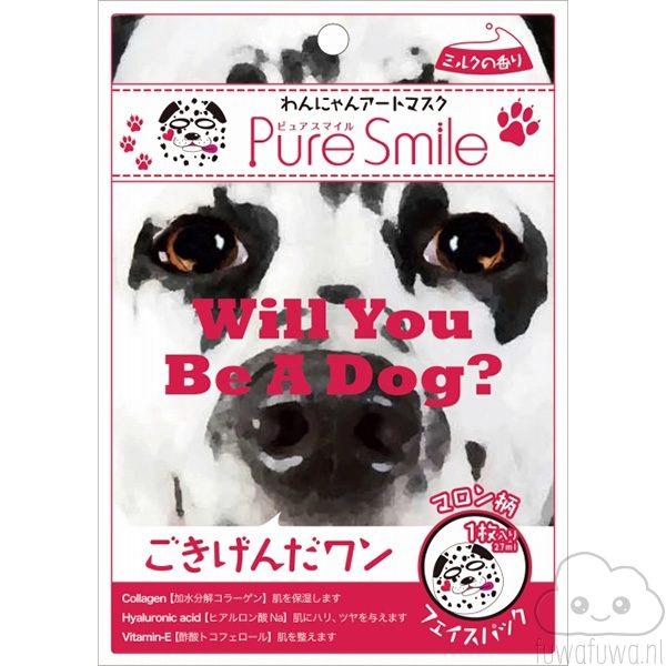 Pure Smile Gezichtsmasker Hond Zwart Wit