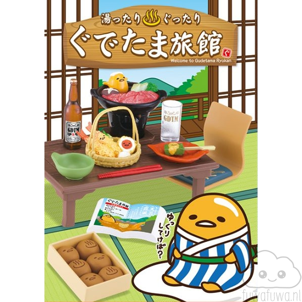Re-Ment Miniatuur – Welcome to Gudetama Ryokan (Blind Box)