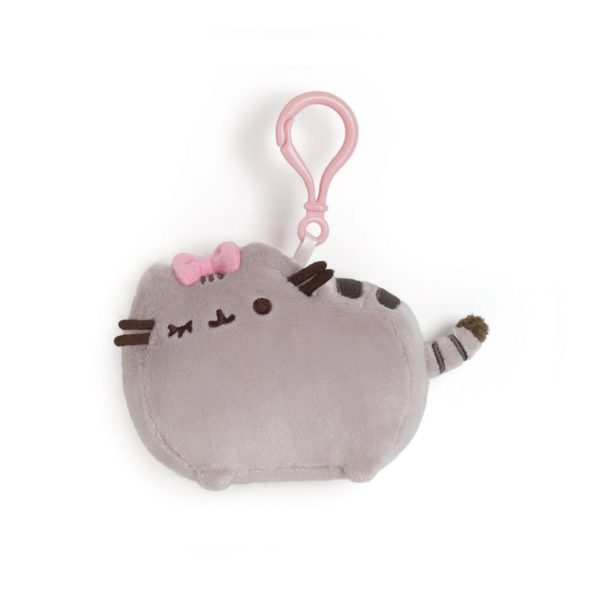 Pusheen with Bow Clip