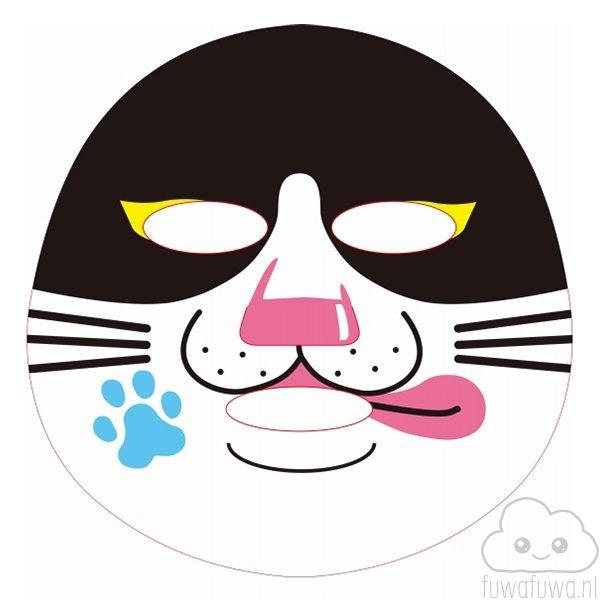 Gezichtsmasker Kat Zwartwit 2