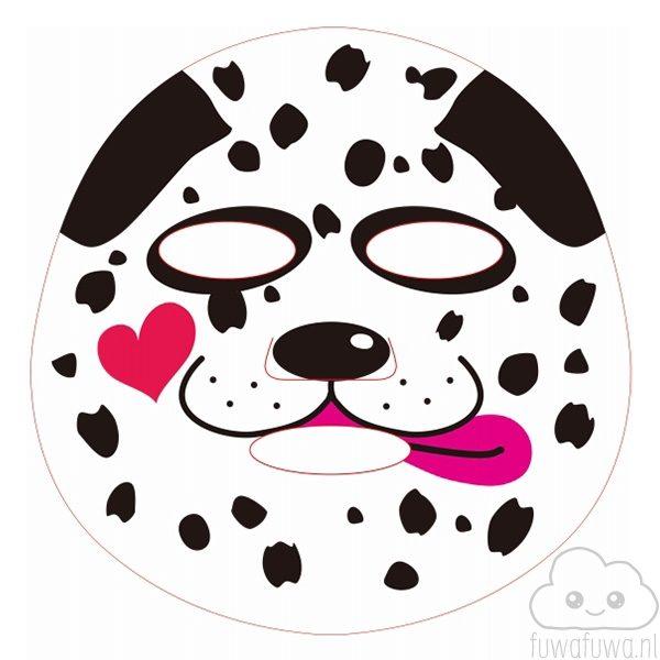 Pure Smile Gezichtsmasker Hond Zwart Wit 2