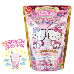 Hello Kitty Frothy Peach Flavor Drink!